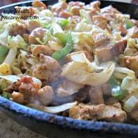 chicken and cabbage stir-fry skillet