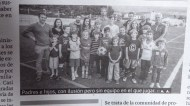 We get our picture in the paper!