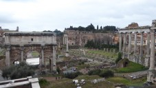 The Roman Forum (according to our guidebook).