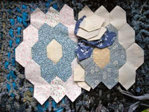Laura Ashley hexagon patchwork