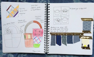 baskets sketchbook