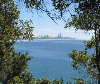 View from the walkway north to Surfers Paradise.