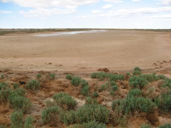 This is the only water left and in these winds this will soon be dried up