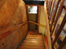 The steep stairs