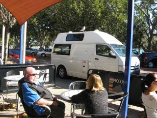 Our transport waiting for us as we had lunch and explored Mandurah