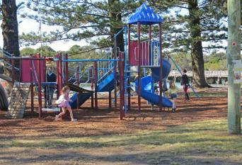 Children's playground being well used