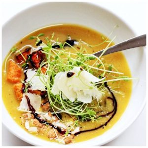 Roasted Delicata Squash Soup