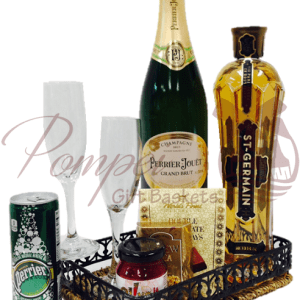 Elegant Brut Flower Cocktail Gift Basket