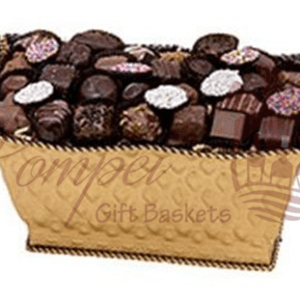 Golden Confectionery Chocolate Gift Basket
