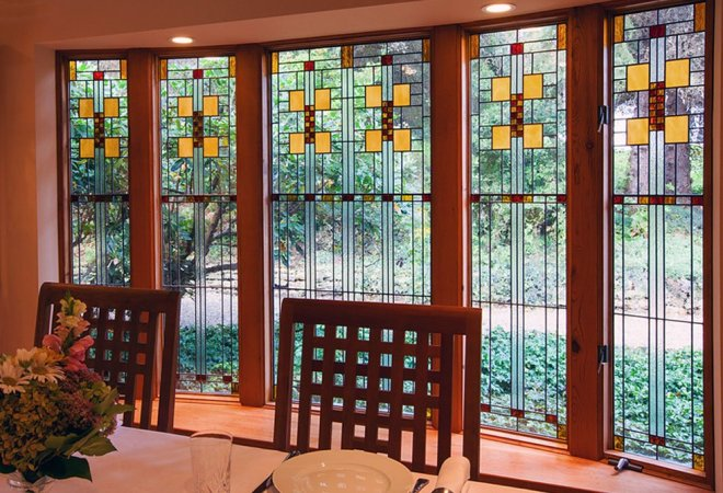 Frank Lloyd Wright Inspired Gibbons House Window