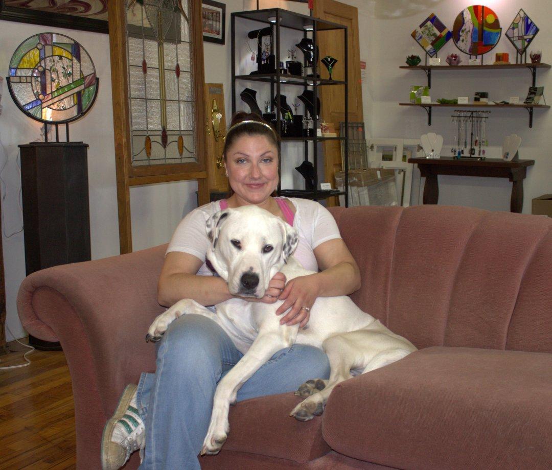 Marissa Pompei with Riley