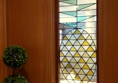 Stylized Pineapple stained glass window