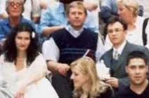 Ks. Henryk Januchta - obok my i świadkowie, tuż po ślubie
