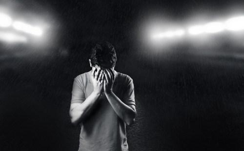 Mężczyzna z depresją