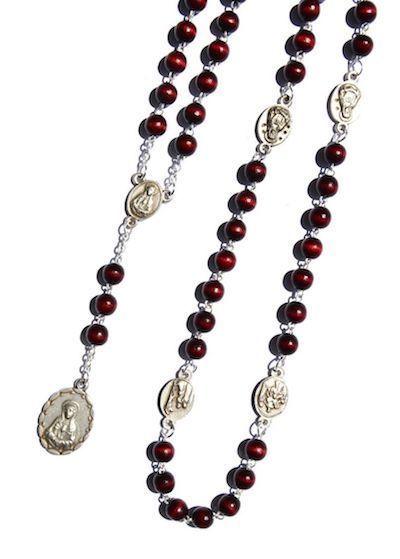 Książka: Koronka z modlitwą do siedmiu boleści Matki Bożej (drewniana)