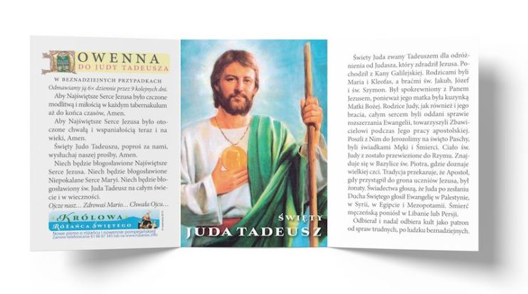 Książka: Obrazek ze św. Judą Tadeuszem