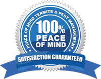 Pest and termite management satisfaction guarantee seal logo