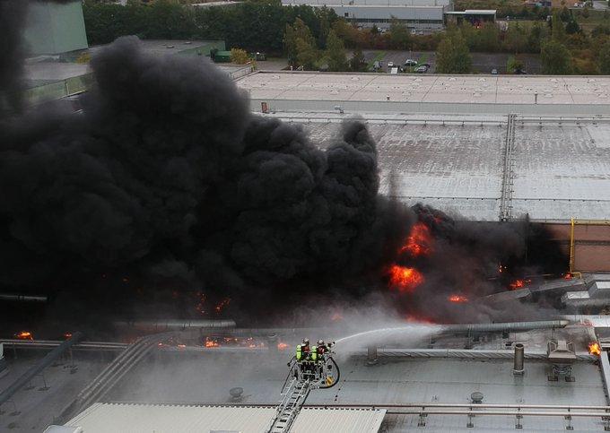 🇱🇺 Echternach : Gigantesque incendie dans une usine