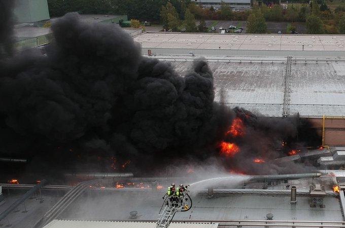 ?? Echternach : Gigantesque incendie dans une usine