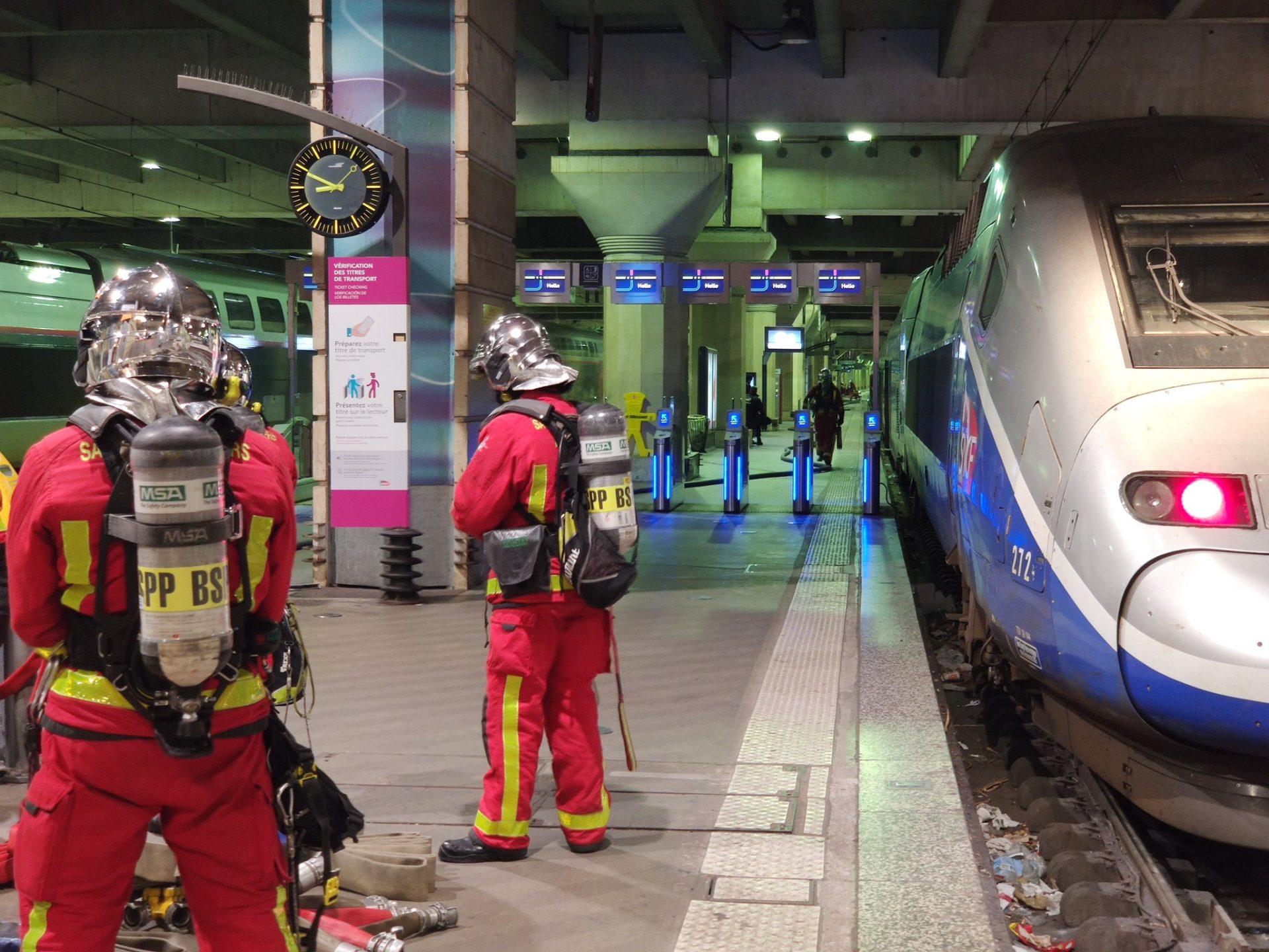 🇫🇷 Paris : La motrice d'un TGV s'enflamme