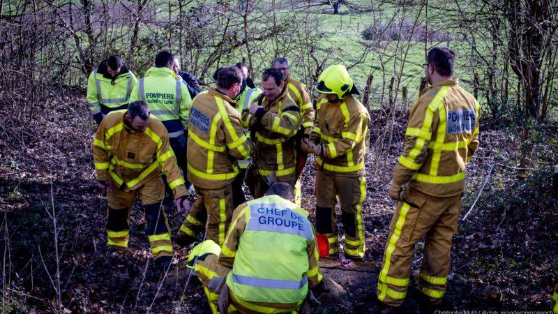 🇫🇷 Cluny (71) : Manœuvre des sapeurs-pompiers
