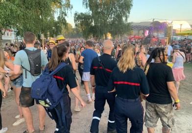Les pompiers présents aux Eurockéennes