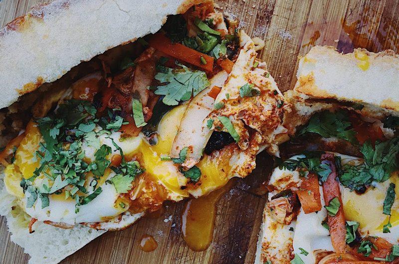 Kimchi & Fried Egg Sandwich