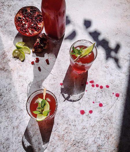 Pomegranate, Rose & Lime Cooler