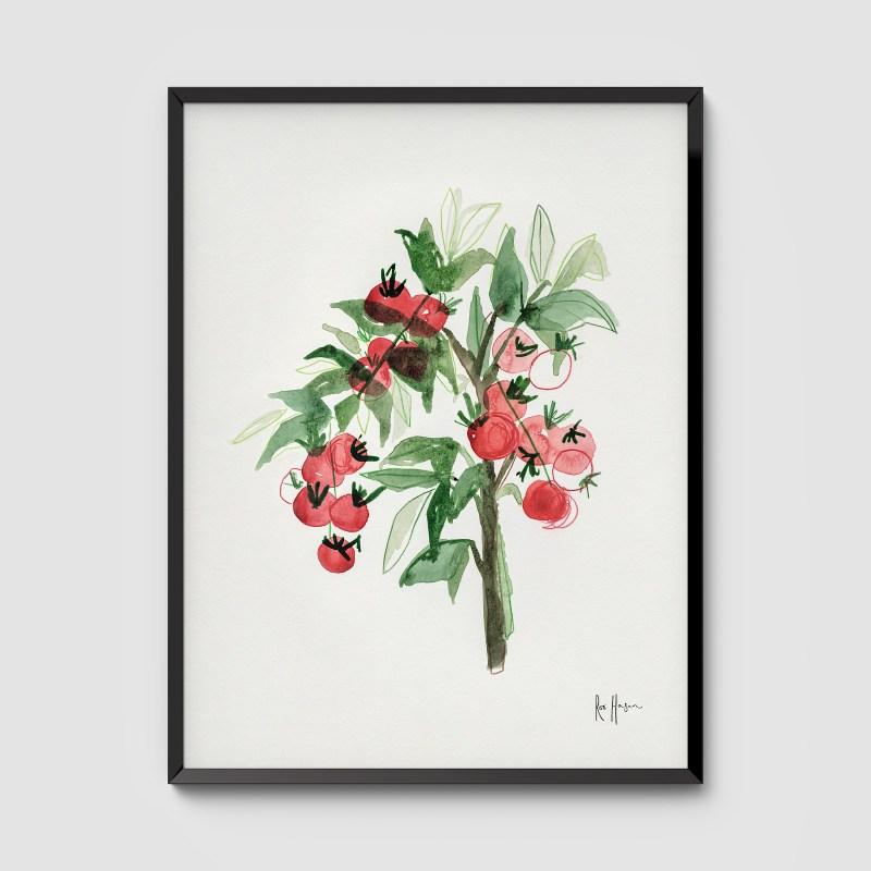 Tomato Plant Framed Art Print