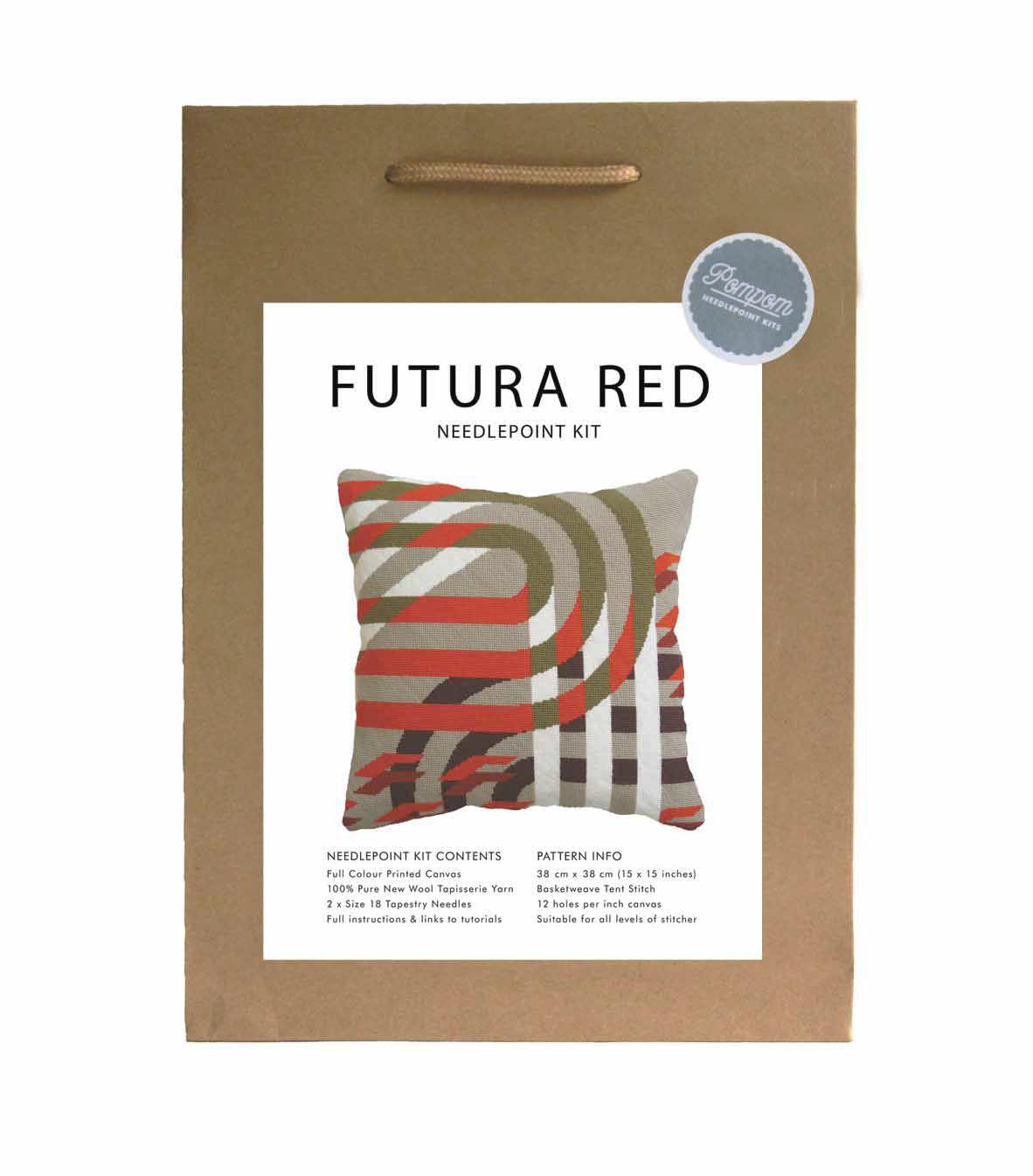 FUTURA RED NEEDLEPOINT KIT