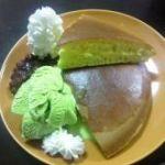 抹茶小豆パンケーキ