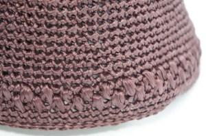 埼玉県所沢市のかぎ針編み教室pomponnerが編んだ細編みの麦わら帽子の画像