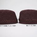 埼玉県所沢市のかぎ針編み教室pomponnerが、麦わら帽子を編む時に間違えがちな『編み目が増える』失敗について検証した時に編んだ、麦わら帽子の画像