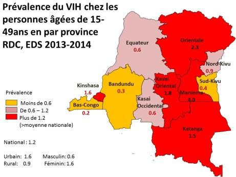 Prevalence VIH2014 carte fr
