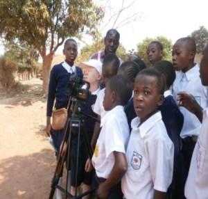 Elèves et reporters de Lubumbashi
