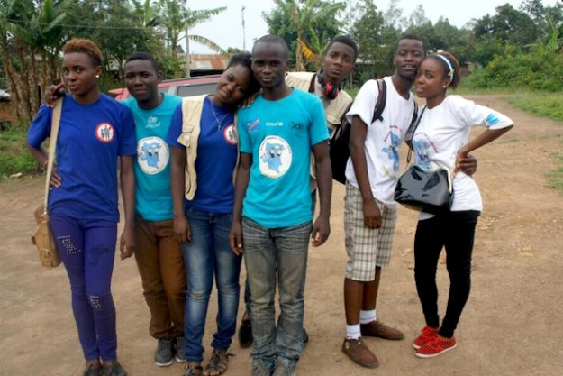 Young reporters in DRC