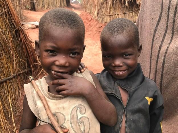 Displaced children in DRC