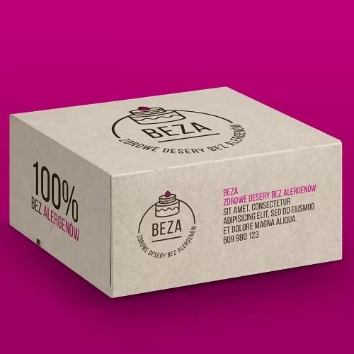 Logo dla cukierni - opakowanie na tort BEZA