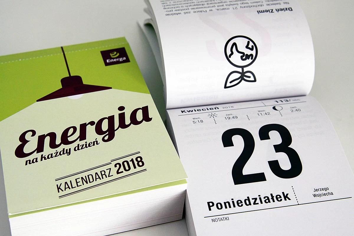 Kalendarz zrywany Energa