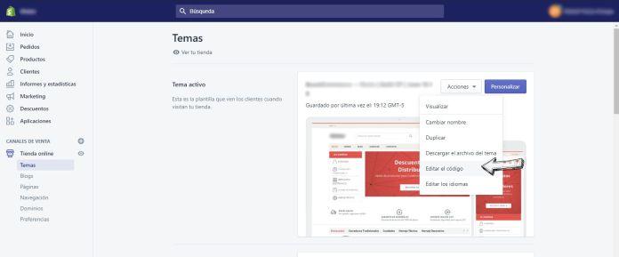 Guía para editar código fuente de Shopify en local con Theme Kit 1