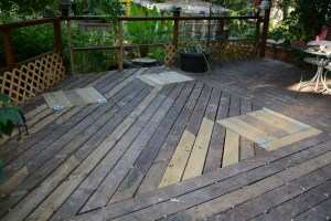 Replaced deck awaiting new paint