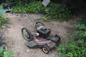 The old self driving mower