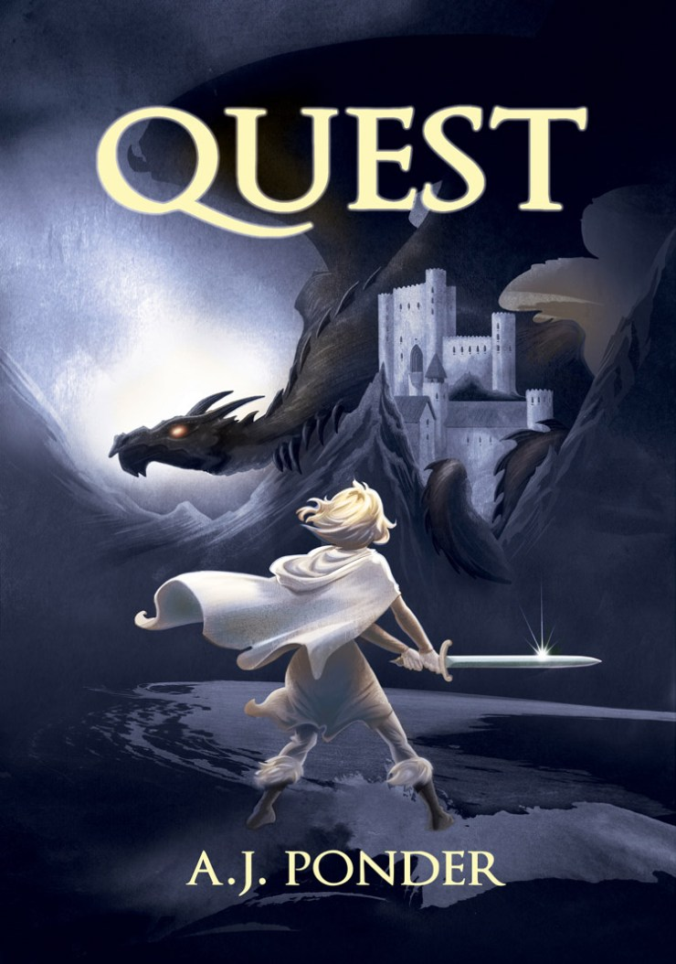 Quest: The Sylvalla Chronicles Fantasy humor Sylvalla, the princess, faces down a dragon larger than a castle with only a sword