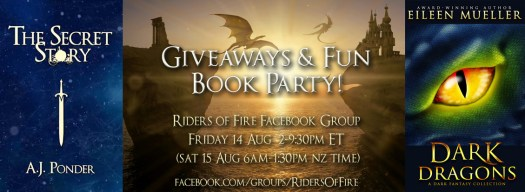 Secret Story Book Launch Party with giveaways and fun.