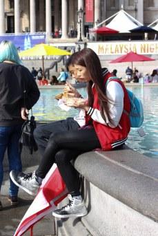 People enjoying their food. © Violet Acevedo