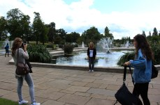 Tourists taking pictures at The Fountains. © Violet Acevedo