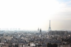 The misty skyline of Paris. © Violet Acevedo