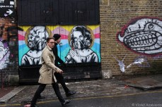 Hipsters on the prowl in Brick Lane. © Violet Acevedo