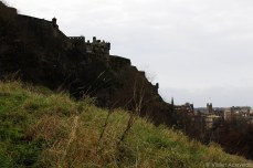The view of Edinburgh Castle from Prince's Park. © Violet Acevedo