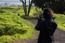 Picture taking on top of Mt. Eden. © Violet Acevedo